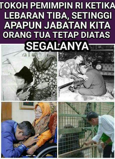 Netizen Belum Melihat Jokowi Sungkem ke Ibunya saat Lebaran