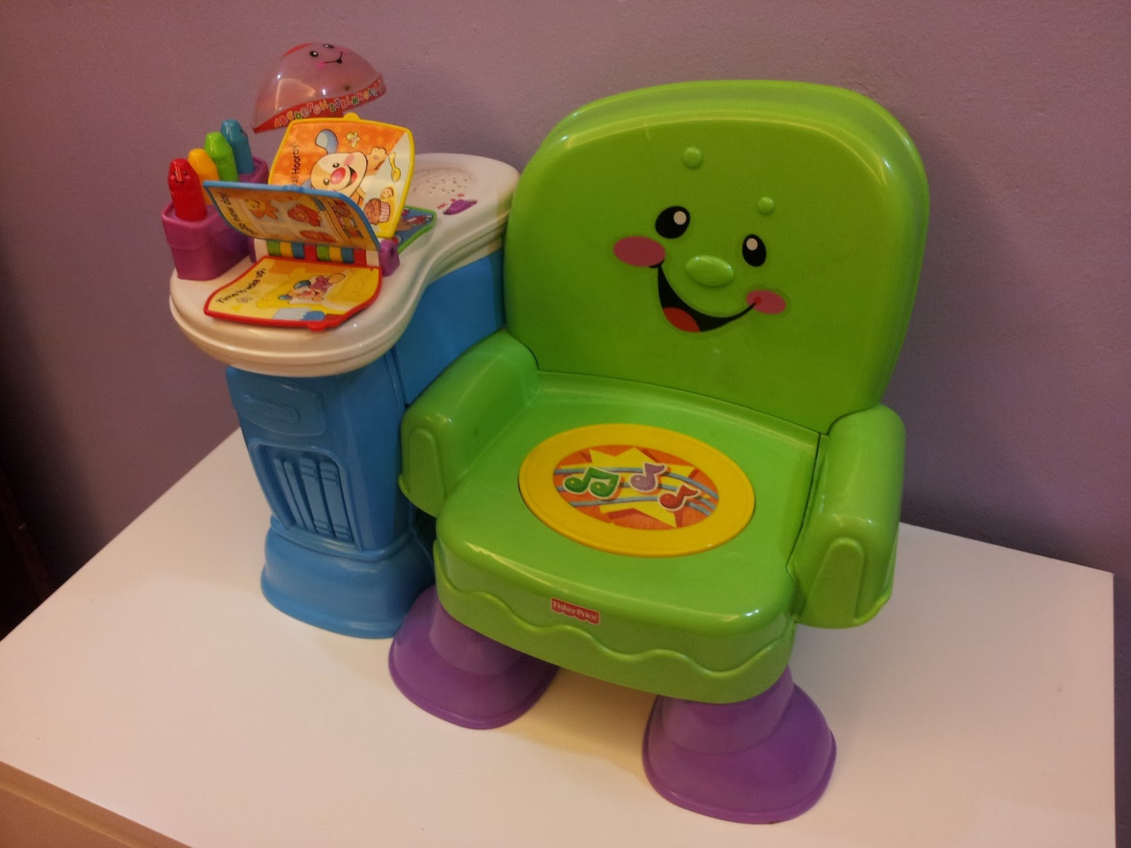 Fisher Price Sit And Play Chair Mestler Side Baby Preloved Stuffs Laugh Learn Musical