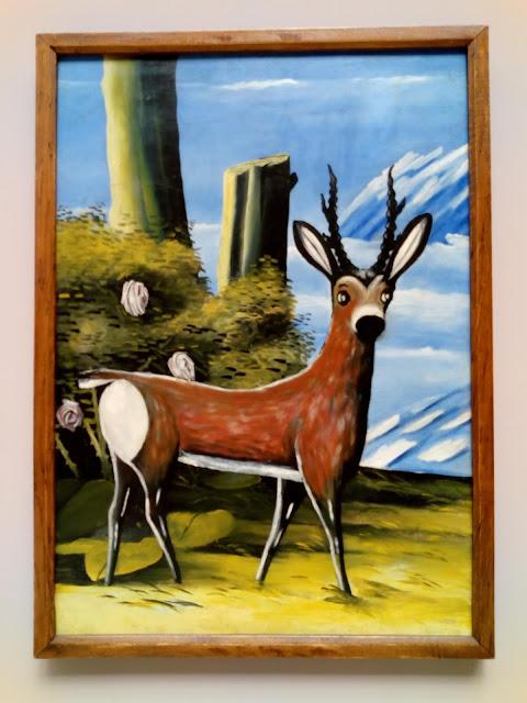 ピロスマニの小鹿の絵