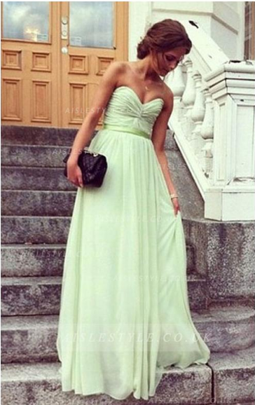 47c99a7a0b6 Green Sweetheart Prom Dress