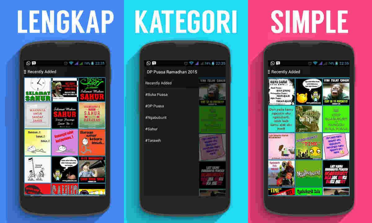 Aplikasi Ucapan Ramadhan 2015 Android DP Gambar Puasa