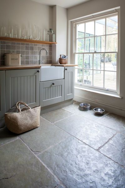 stone floors in kitchen