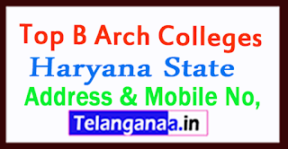 Top B Arch Colleges in Haryana