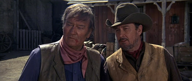 John Wayne and Ben Johnson in Chisum 1970 movieloversreviews.filminspector.com