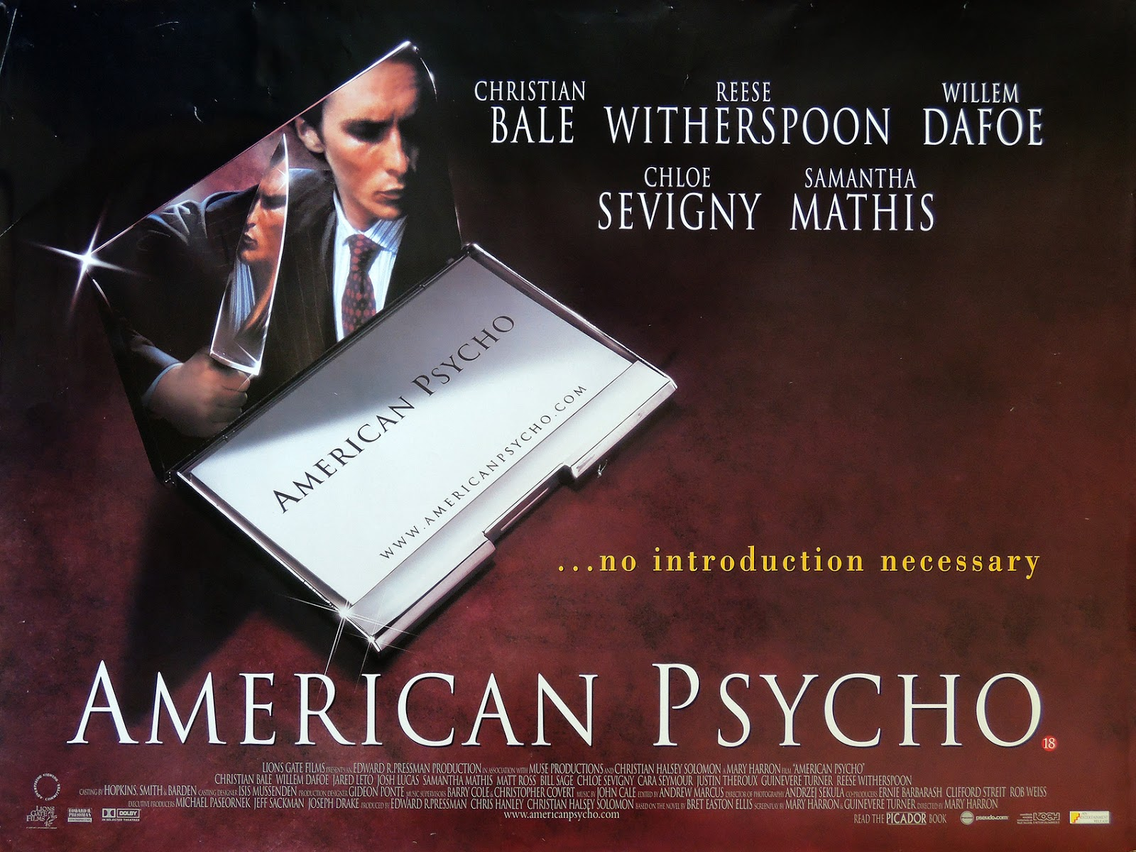Review American Psycho (2000), Feel To Be Psycho - Blog Review Film Tergila