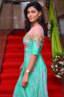 Anisha Ambrose sizzles in cute Green Anarkali Dress at Fashion TV F Club Saloon Launch ~  Exclusive 013.JPG