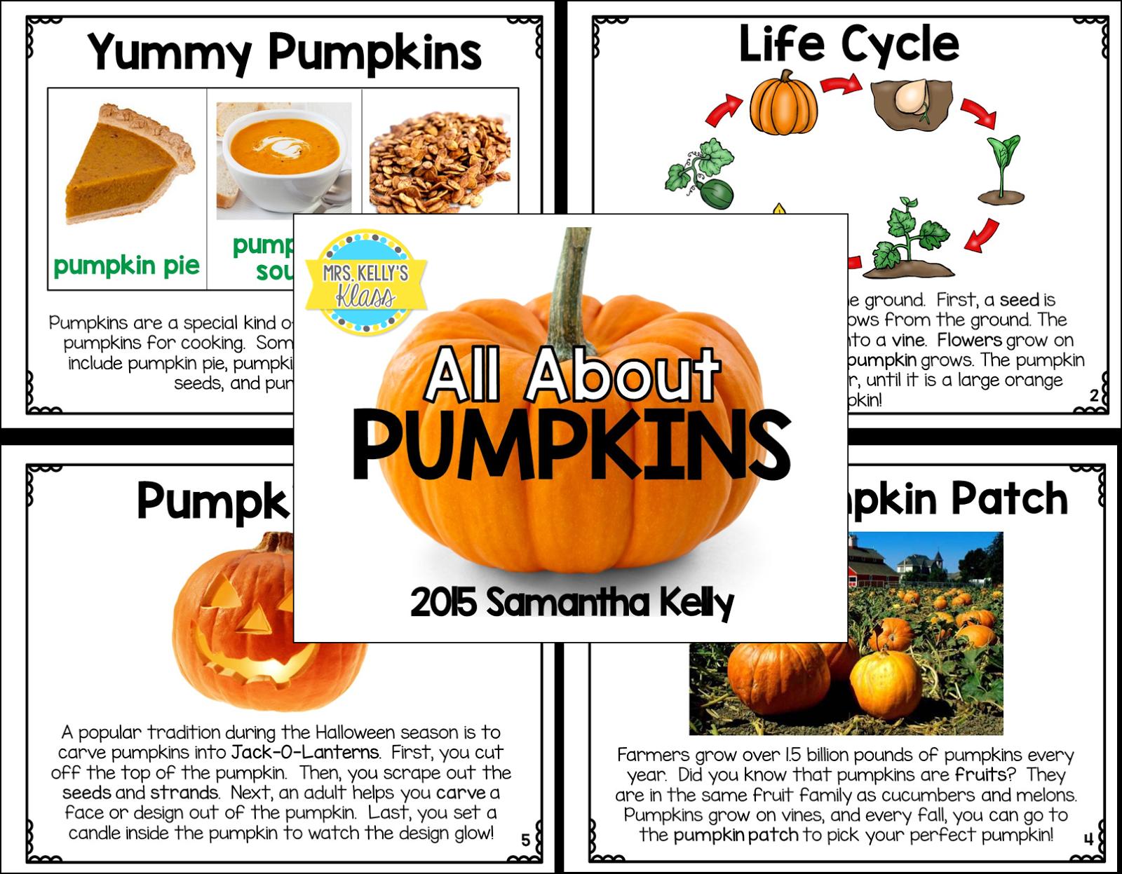 Mrs Kelly S Klass Cross Curricular Pumpkin Fun