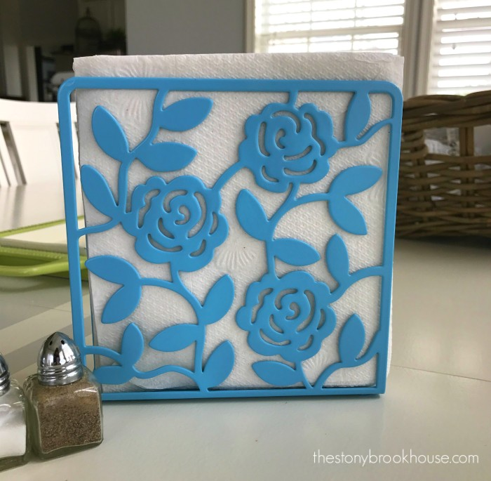 blue napkin holder
