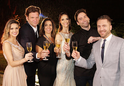 Beca, Bertolazzi, Elisa, Chris, Hugo e Lucas (Crédito: Gabriel Gabe/SBT)