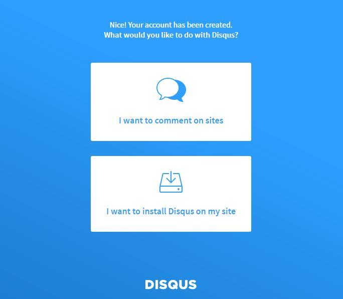 Create Disqus Account