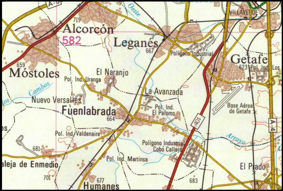 Memorias De Fuenlabrada Mapa De Fuenlabrada En 1982