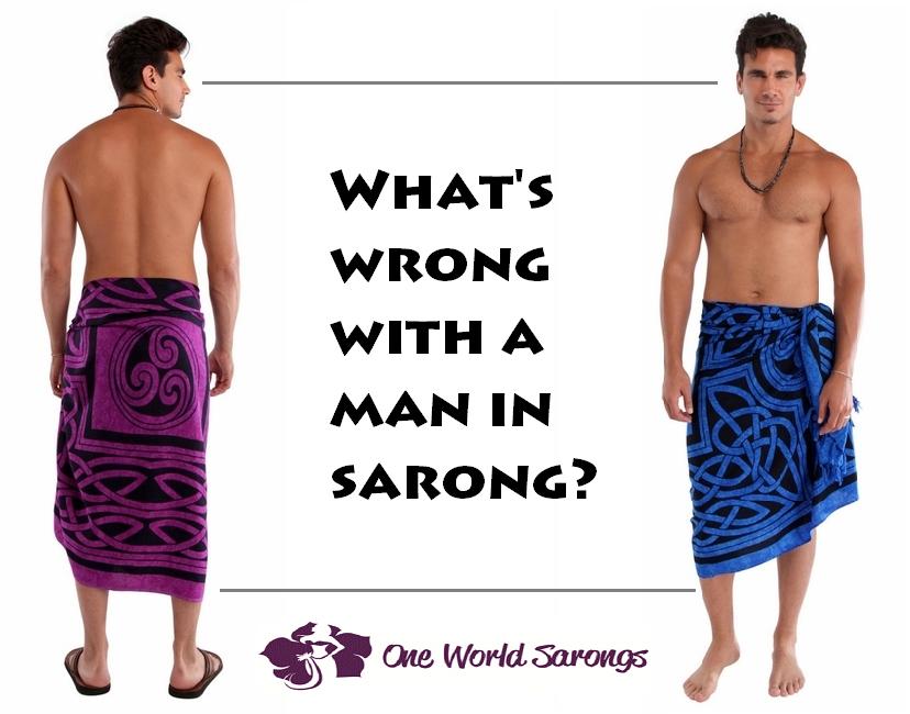 man sarong nude