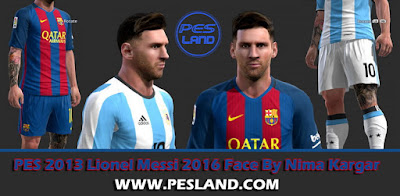 PES 2013 Lionel Messi 2016 Face By Nima Kargar