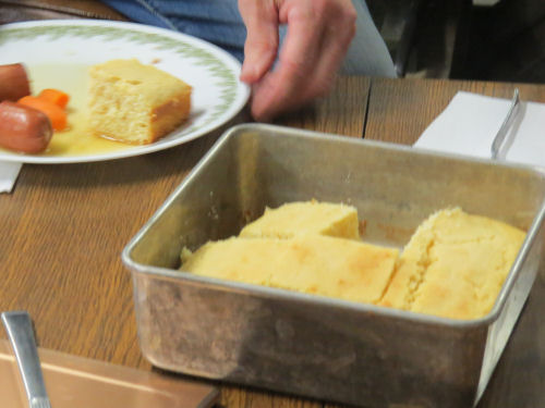 cornbread in a square pan
