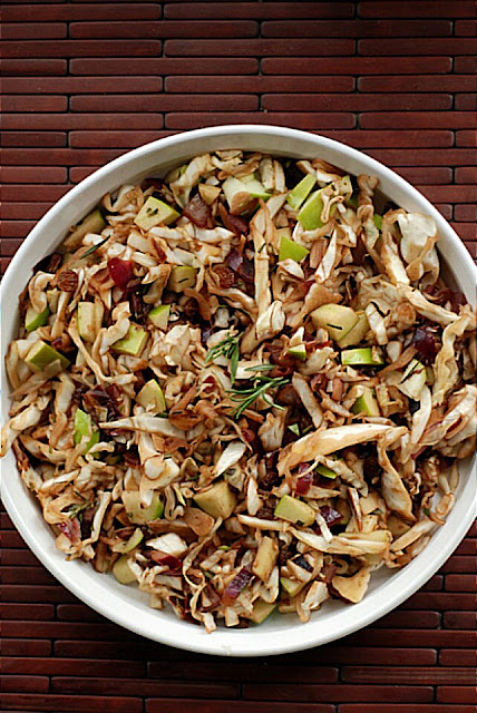Warm Cabbage Salad with Bacon and Goat Cheese