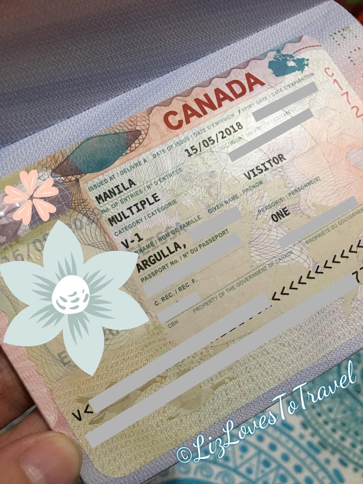Canada Tourist Visa Application for Filipinos - The Bookworm