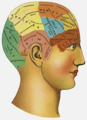 Phrenology chart.