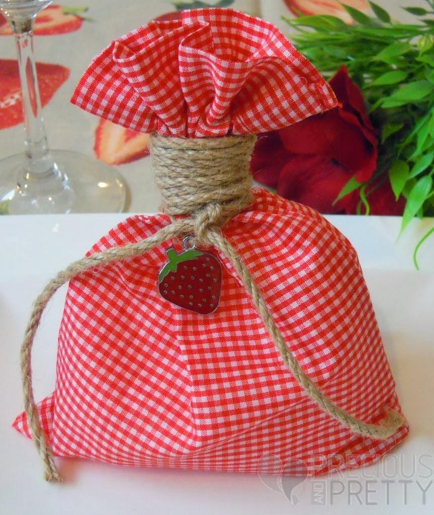 favors for strawberry themed christening