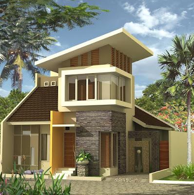 model rumah minimalsi terbaru 2 tingkat type 65