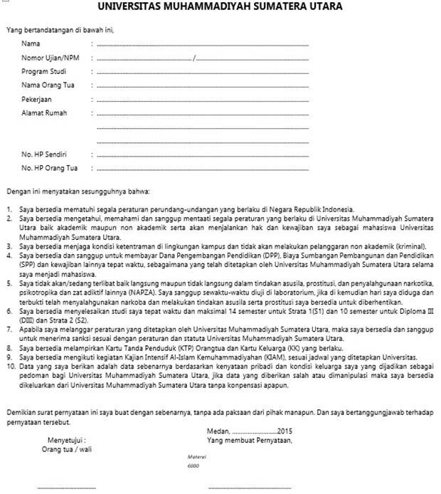 contoh surat pernyataan kesanggupan membayar angsuran