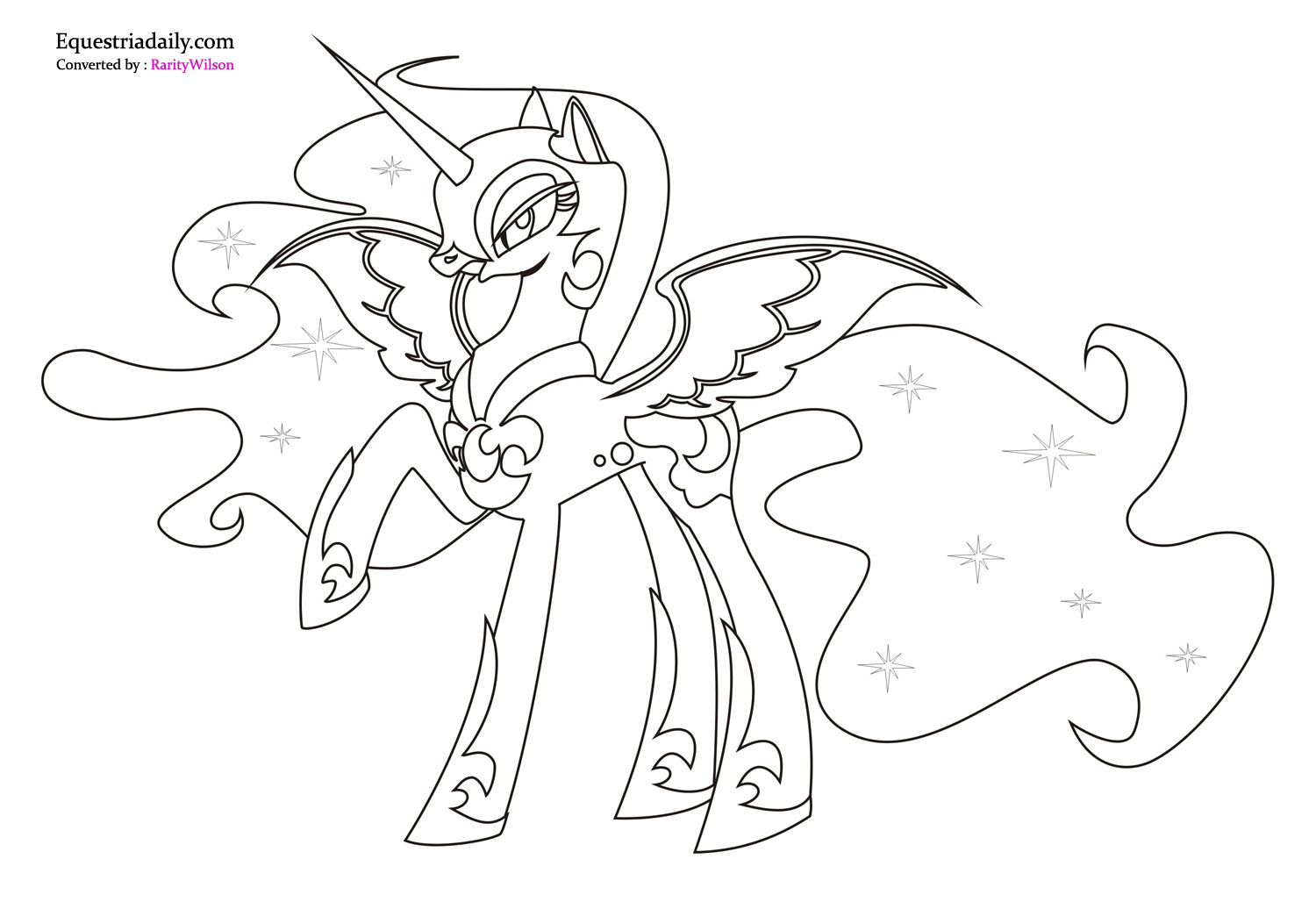 My Little Pony Nightmare Moon Coloring Pages high resolution