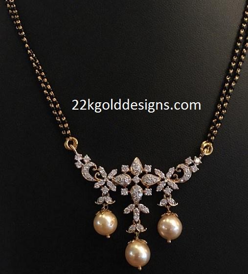 Diamond Black Beads Pendant