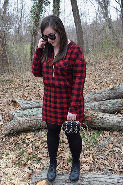 Sequins and Skulls: Gingham Mini Dress