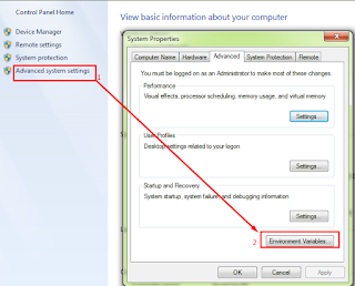 Gambar setting environment variable pyhton windows 7