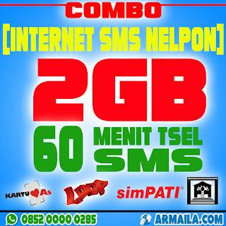 Cara Paket Combo 2GB Telkomsel 60 Menit 60 SMS Semua Jaringan | ORDER KLIK DISINI