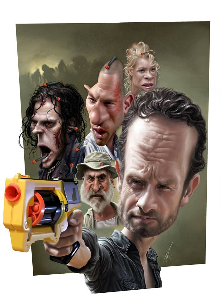 The Walking Dead por Alex Gallego