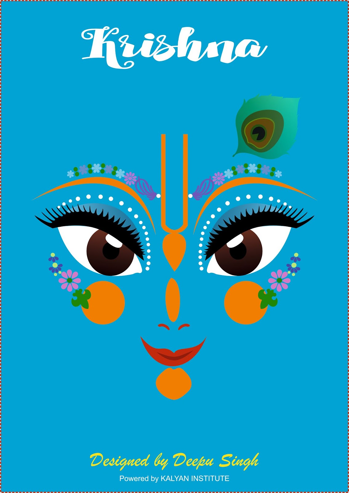 Krishna Art Design    Create in CorelDRAW X7   Dk Graphic Creative