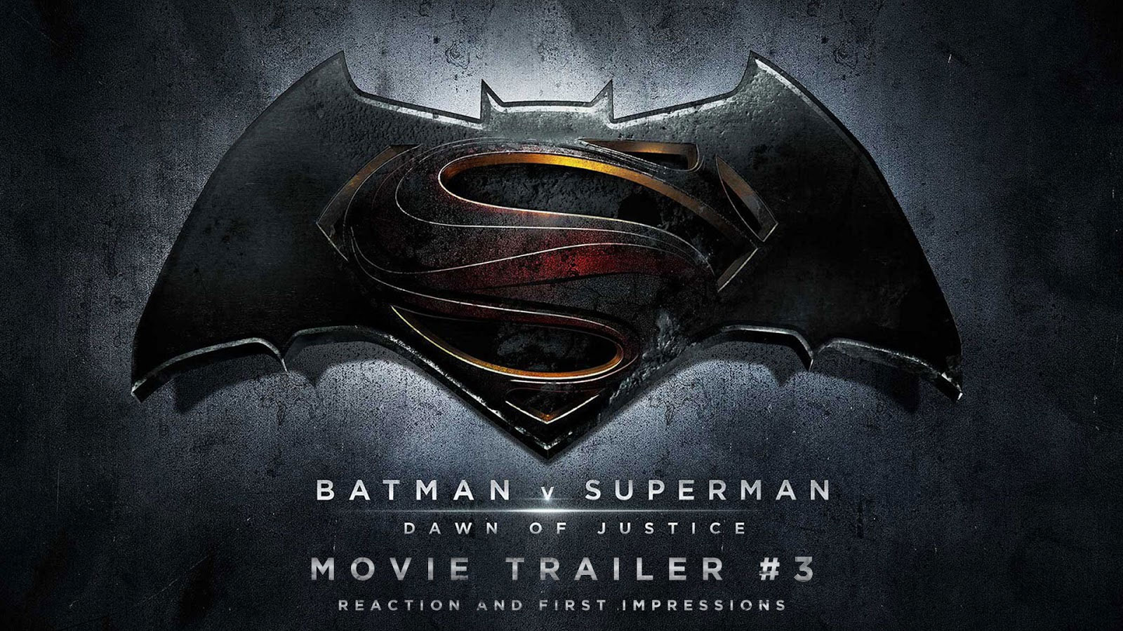 reaction to trailer for Batman v Superman: Dawn of Justice
