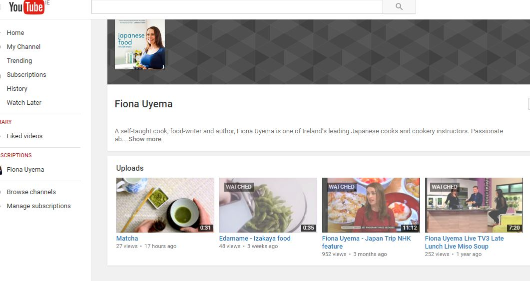Fionas japanese cooking fiona uyema youtube channel subscribe fiona uyema youtube channel subscribe for recipes forumfinder Gallery