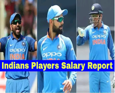 Indian Players Salary Report 2018