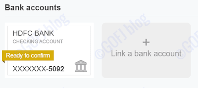 PayPal India bank account confirmation