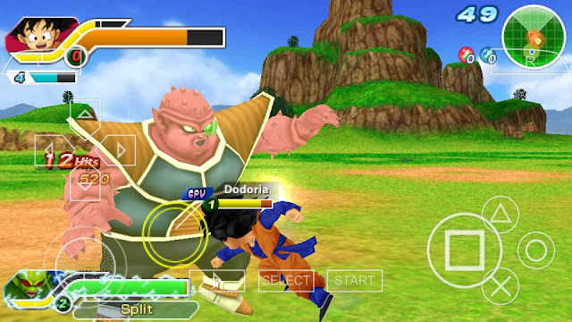 game Dragon Ball Z Tenkaichi Tag Team ISO CSO Compress For ANDROID