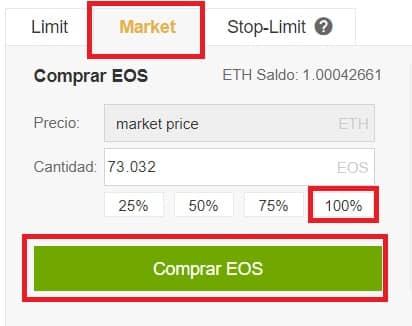 comprar ethereum con binance EOS dónde