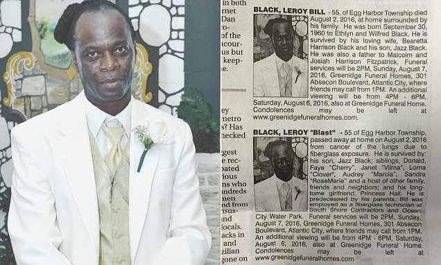 Dead man 39 s wife girlfriend run side by side obituary for for Leroy black friday