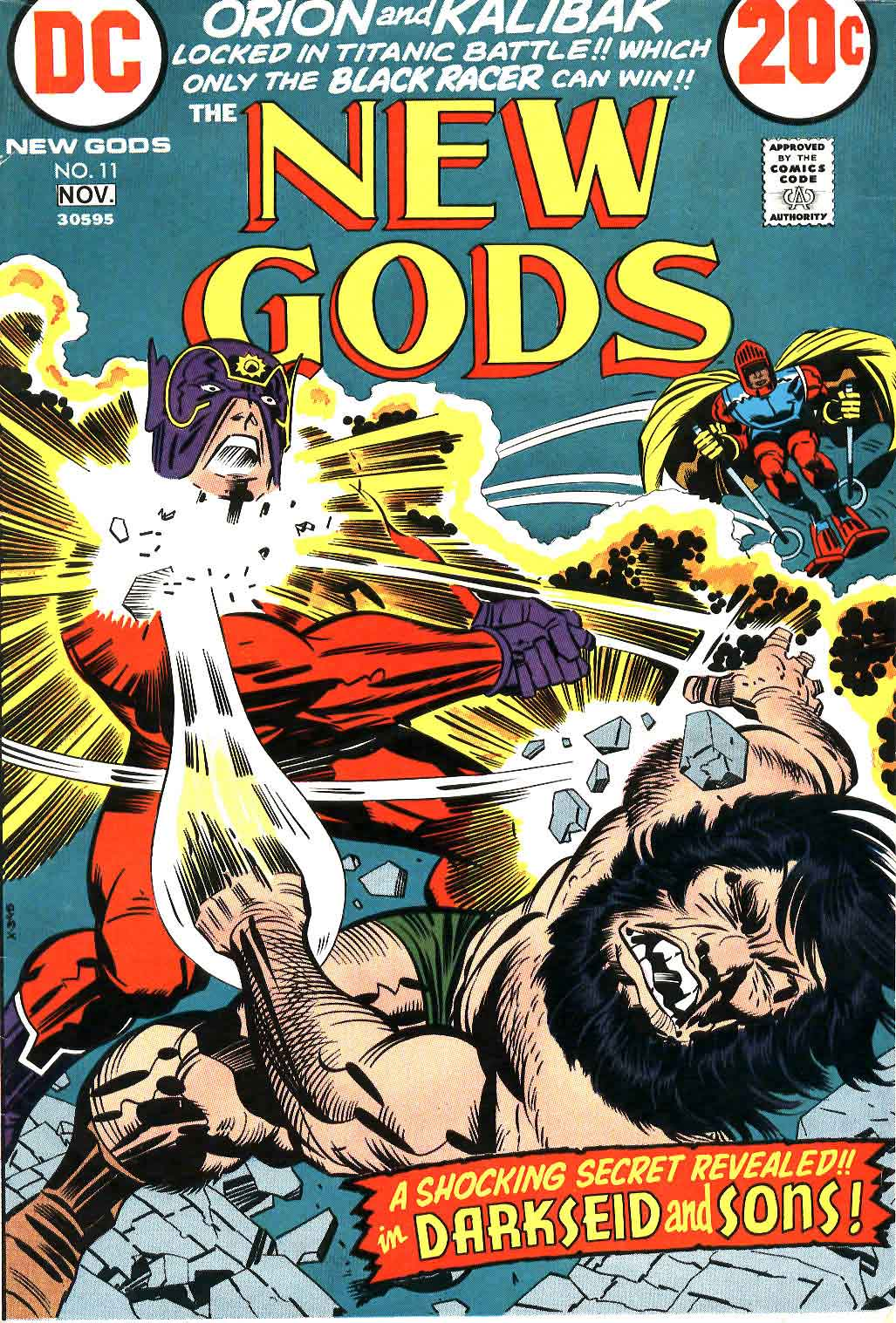 New Gods v1 #11 dc bronze age comic book cover art by Jack Kirby