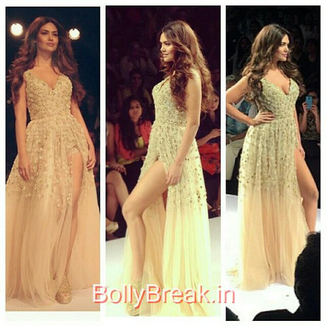 esha gupta sizzles on ramp at lakme fashion week today.  esha gupta , lakme fashion week , lfw , summer resort 2015 ,