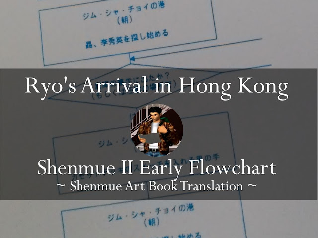 Ryo's Arrival in Hong Kong: Shenmue II Early Flowchart