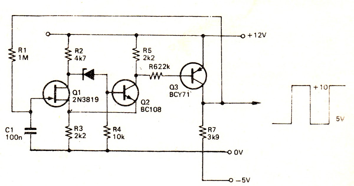 simple square wave generator circuit schematic