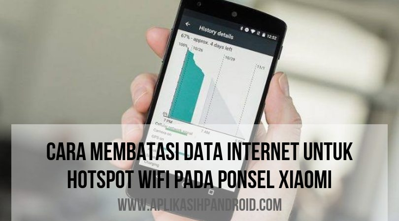 Agar tak boros kuota, cara membatasi penggunaan data hotspot pada ponsel Xiaomi