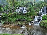 Curug Tilu Rancabali, Wisata Alam Eksotis di Tengah Hamparan Kebun Teh