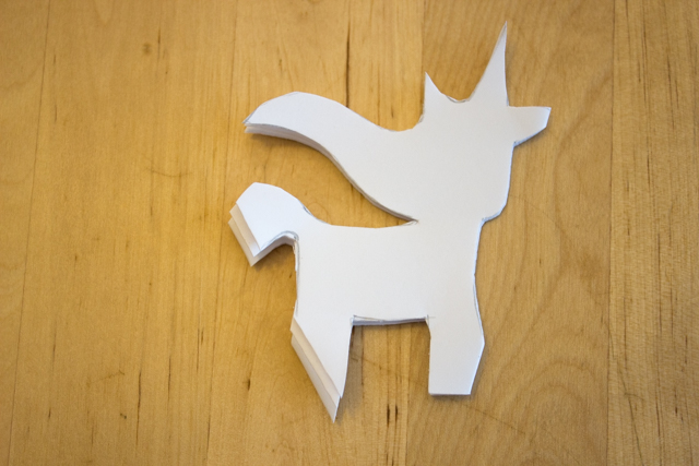 How to Cut Unicorn Snowflakes with kids- fun winter craft
