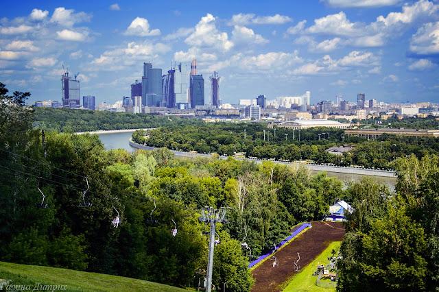 Москва-сити со смотровой площадки
