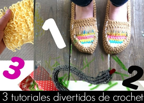 3 Tutoriales divertidos de crochet