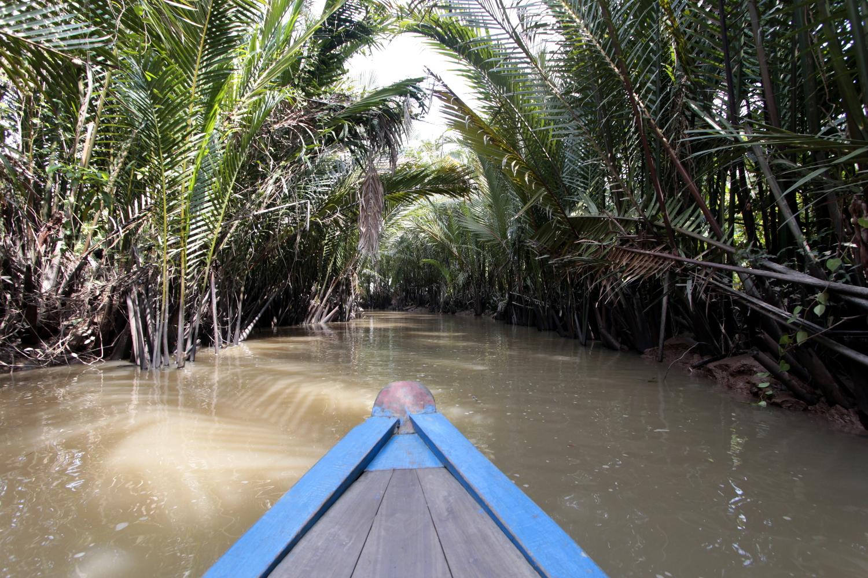 Canal del delta del Mekong