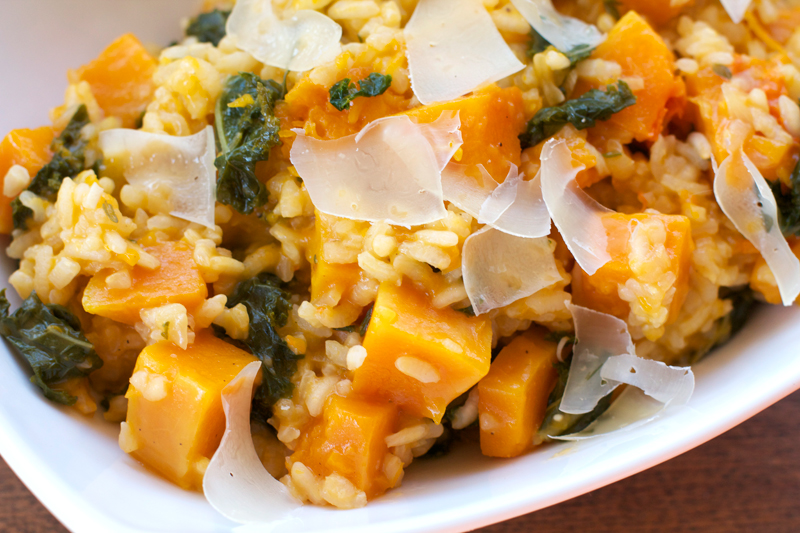 Baked Butternut Squash Risotto || A Less Processed Life