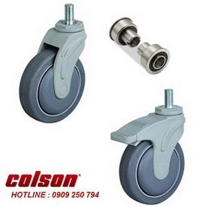 Bánh xe cao su càng nhựa ty ren Colson chịu lực 70 ~ 100kg www.banhxedayhang.net
